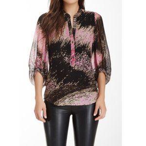 Diane von Furstenberg Syrah Printed Silk Tunic 8